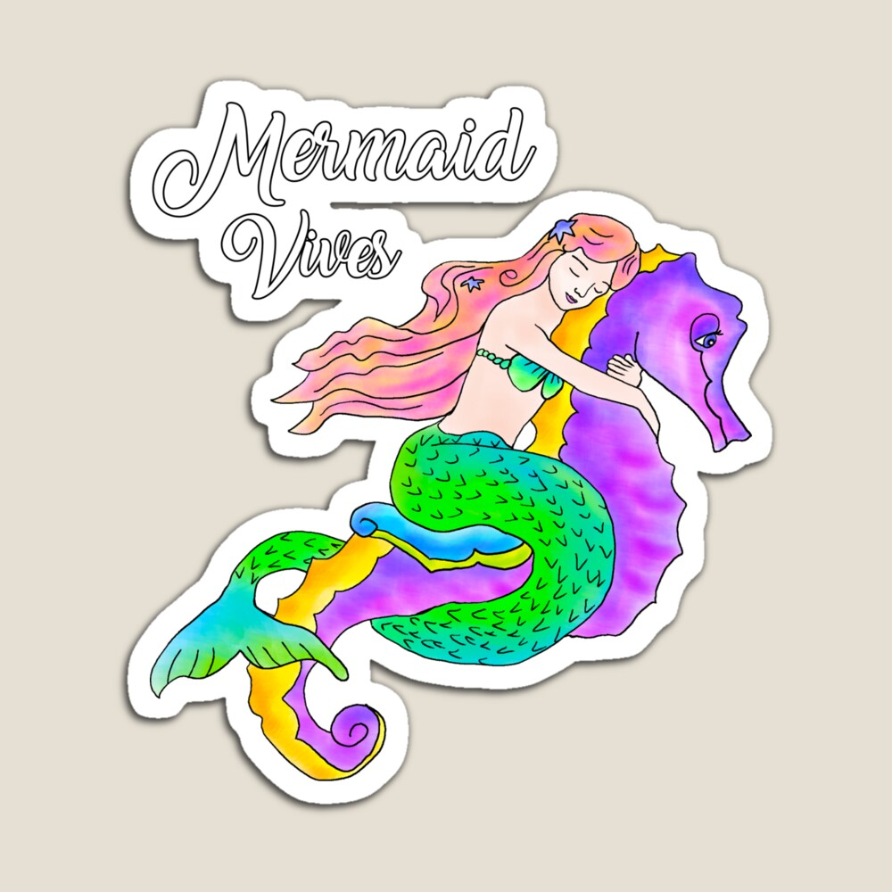Mermaid on a Seahorse drawing